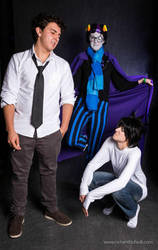 L, Bigby Wolf and Eridan Ampora by sherlymate
