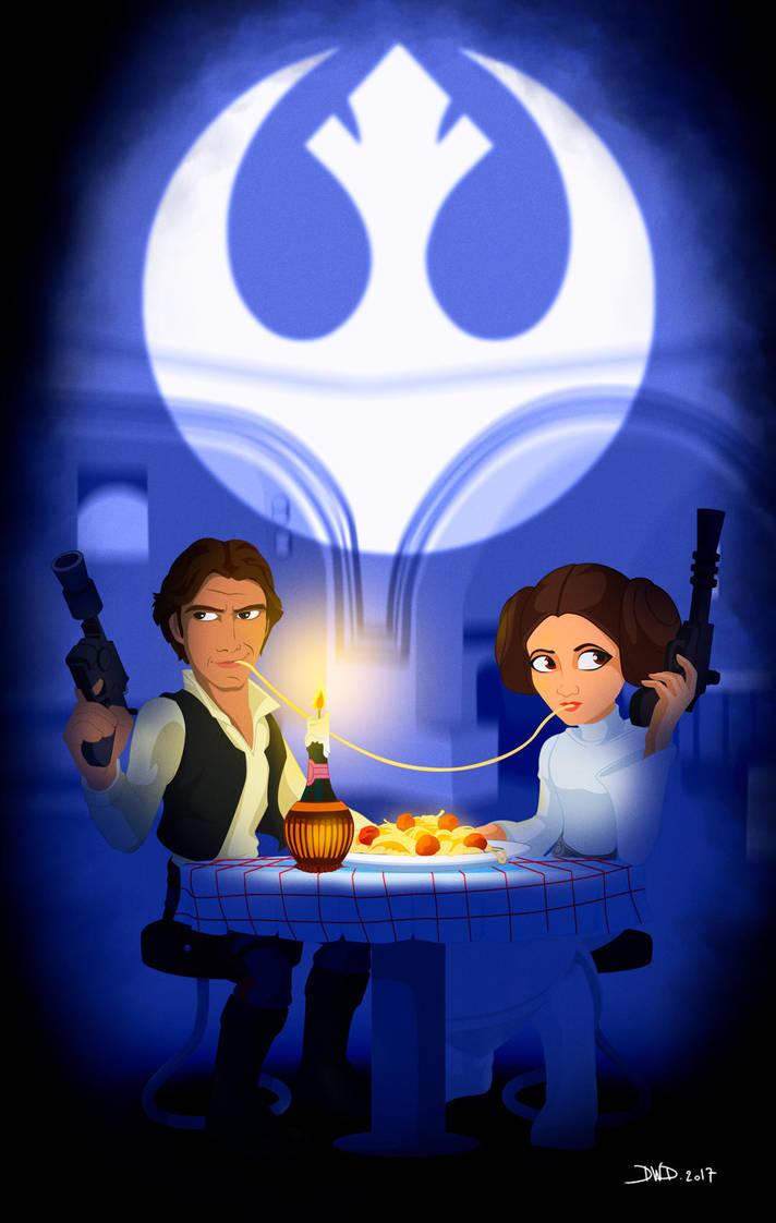 Star Wars - Lady and the Tramp by Dawid-B