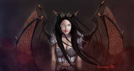 Lady Dragon by Imperfectum-Paranoid