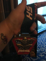 5K Spider Man medal by HappyHaunts999