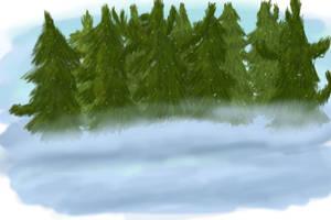 Winter Scene WIP by TakaTheSquirrel