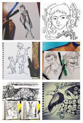 Inktober 2015 - Sketchbooks by ElwenAldalinde