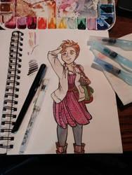 Traveling Girl by ElwenAldalinde