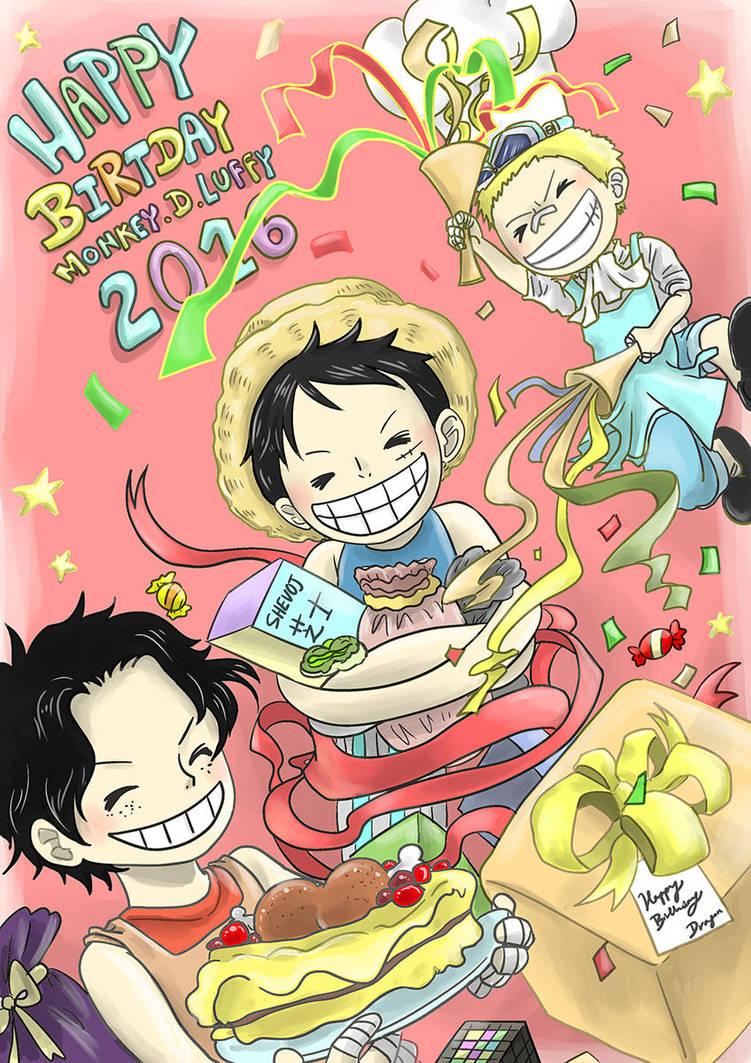 Happy Birthday Luffy Asl By Shevoj On Deviantart