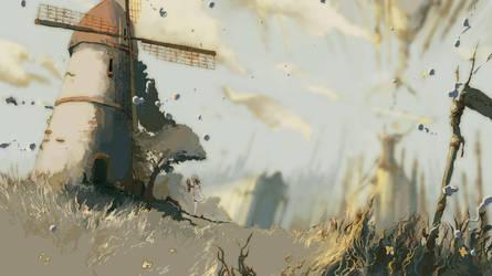 Windmill4-3 by Hachimitsubani
