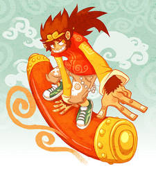 Monkey KIZING Sun WuKong by scrotumnose
