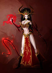 Jezabella the Blood Queen concept by Johnatyroth
