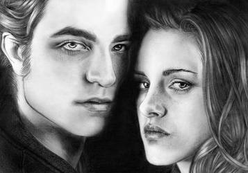 Edward and Bella from Twilight by Loga90