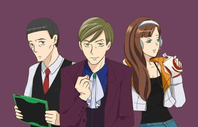 Kenmi, SP and Kaneda by Momo36