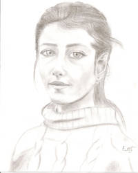 Young Girl - sketch practice by Bendida
