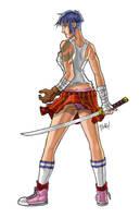 Samurai Schoolgirl by pixelcharlie