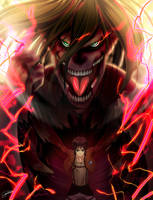 Eren Titan transformation !! by hawaiigurl123