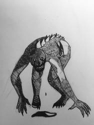 Inktober 13-Zombie by The-Octopus-Author