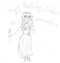 Happey birthday Zelda by CritterOfEgypt