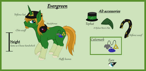 Evergreen mlp ref 2018 by CritterOfEgypt
