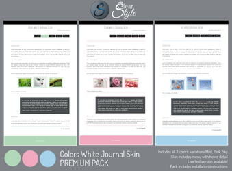 Colors White Journal Skin ~ Premium by ClearStyle
