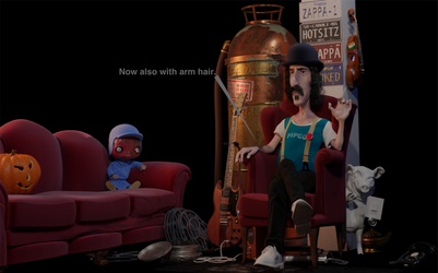Working on: Frank Zappa by zombiwoof
