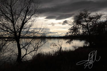 cold evening at mckay lake by 1001G