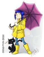 Coraline.Umbrella by LuizRaffaello