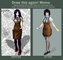 Sayuri Megumi Before.And.After by LuizRaffaello