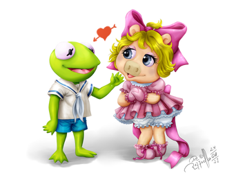 The Muppets Babies Cute Couple by LuizRaffaello