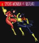 Spider-woman vs Batgirl by LuizRaffaello