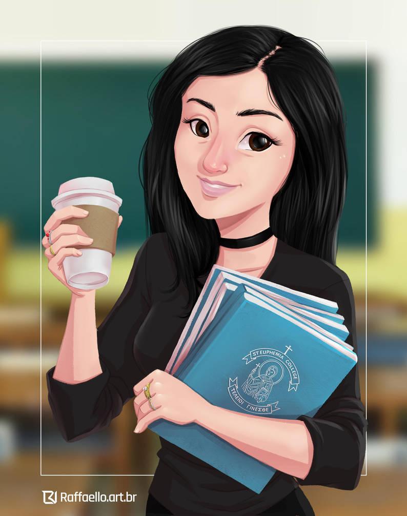 Portrait - Commission - Beautiful teacher by LuizRaffaello
