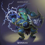 Blue Dragonborn - Desafio Brush Rush by LuizRaffaello