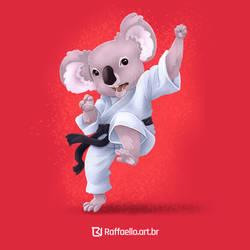 Koala  - fighter by LuizRaffaello