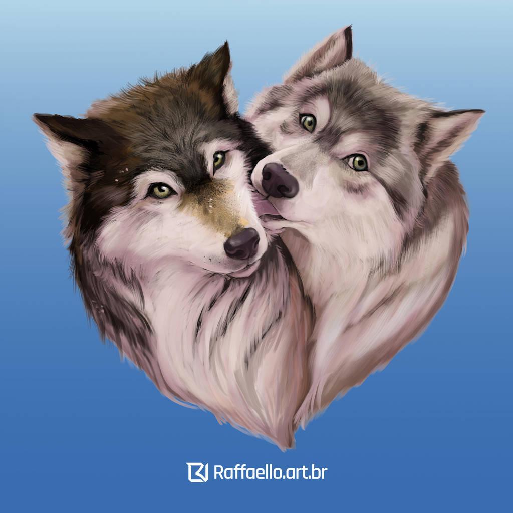 Wolves couple by LuizRaffaello