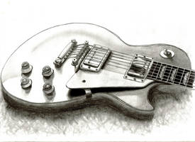 Les Paul Pencil Drawing by DanBergundy