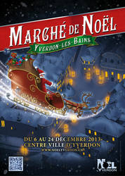 Santa Claus flying over Yverdon-les-bains by CaptainSmog