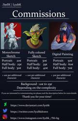 Commission Information (OPEN) by Lyubk