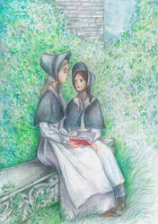 Jane Eyre and Helen Burns by Ephaistien