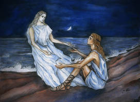 Achilles and Patroclus shadow by Ephaistien