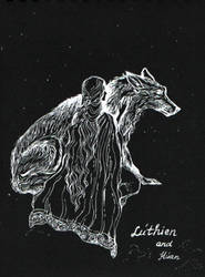 Luthien and Huan. by Ephaistien