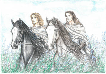 Alexander the Great and Hephaestion.Elysian Fields by Ephaistien