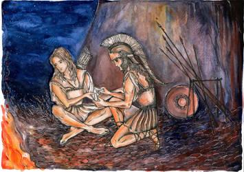 Achilles and Patroclus by Ephaistien