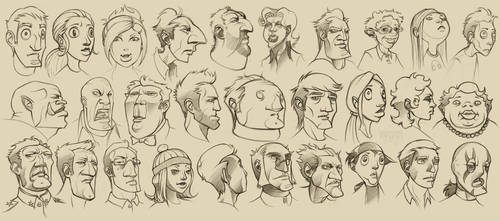 29 Cartoon Characters by YngvarAsplund