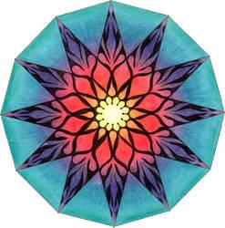 manipura mandala original by wildhype