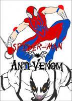 Spider-Man and Anti-Venom by Shellquake
