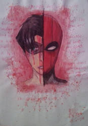 jason todd complete sketch by Karen-Donna