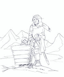 Lone Wulfenbach and son by bluessaurus