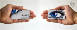 Make-up Artist business card by deadbunnystudio