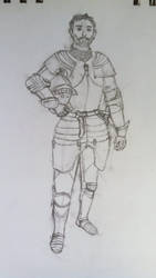 Medieval Achievement Hunters: Geoff Sketch by Knight-of-Ashes