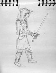 Medieval Achievement Hunters: Michael Sketch by Knight-of-Ashes