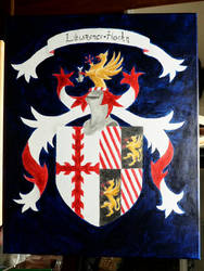 Impaled Coat of (Bucket) Arms for Friends by Knight-of-Ashes
