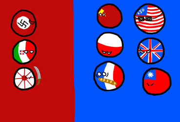 WWII In Countryballs by TheMapperFinn
