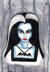 Lily Munster by uumbrella