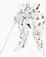 Lancer mecha by blackswordsman28